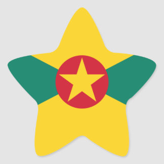 Low Cost! Grenada Flag Star Sticker