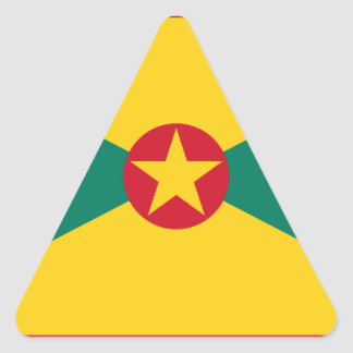 Low Cost! Grenada Flag Triangle Sticker