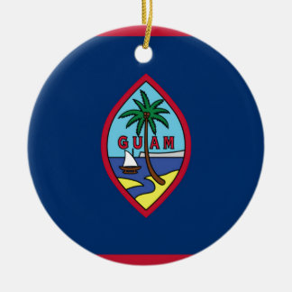 Low Cost! Guam Flag Ceramic Ornament
