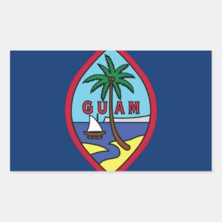 Low Cost! Guam Flag Rectangular Sticker