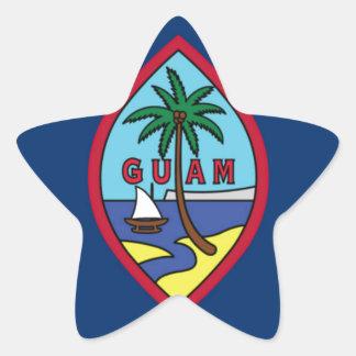Low Cost! Guam Flag Star Sticker