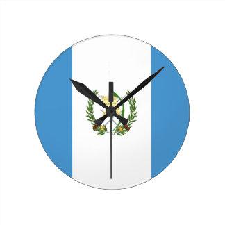 Low Cost! Guatemala Flag Round Clock