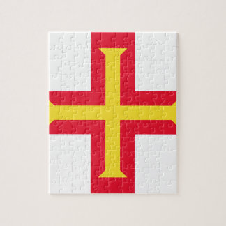 Low Cost! Guernsey Flag Jigsaw Puzzle