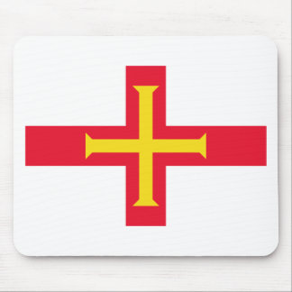 Low Cost! Guernsey Flag Mouse Pad