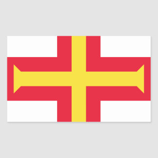 Low Cost! Guernsey Flag Rectangular Sticker