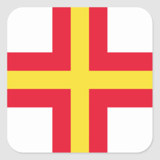 Low Cost! Guernsey Flag Square Sticker