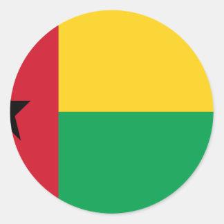 Low Cost! Guinea-Bissau Flag Classic Round Sticker