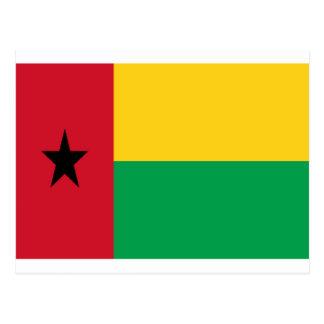 Low Cost! Guinea-Bissau Flag Postcard