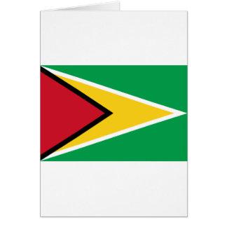 Low Cost! Guyana Flag Card