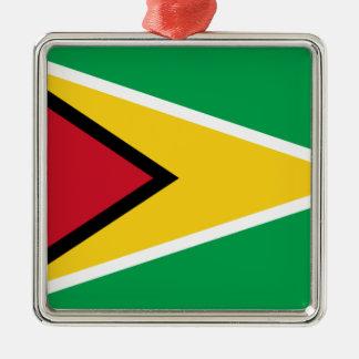 Low Cost! Guyana Flag Metal Ornament