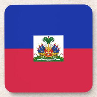 Low Cost! Haiti Flag Beverage Coaster