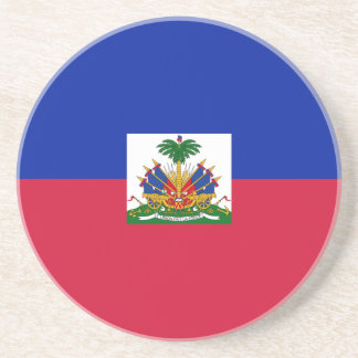 Low Cost! Haiti Flag Coaster