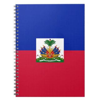 Low Cost! Haiti Flag Spiral Notebook