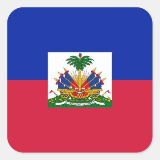Low Cost! Haiti Flag Square Sticker