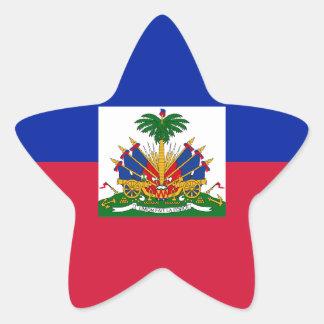 Low Cost! Haiti Flag Star Sticker
