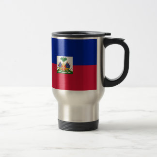 Low Cost! Haiti Flag Travel Mug