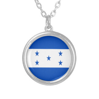 Low Cost! Honduras Flag Silver Plated Necklace