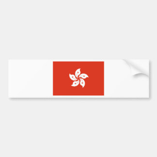 Low Cost! Hong Kong Flag Bumper Sticker