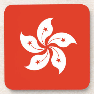 Low Cost! Hong Kong Flag Coaster