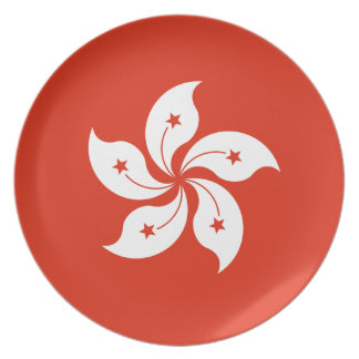 Low Cost! Hong Kong Flag Plate