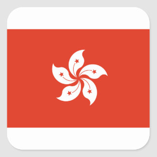 Low Cost! Hong Kong Flag Square Sticker