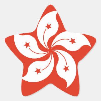 Low Cost! Hong Kong Flag Star Sticker