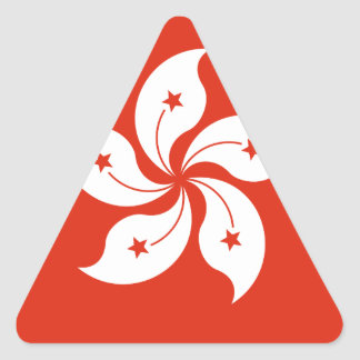 Low Cost! Hong Kong Flag Triangle Sticker