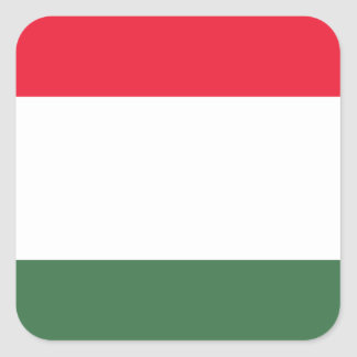 Low Cost! Hungary Flag Square Sticker