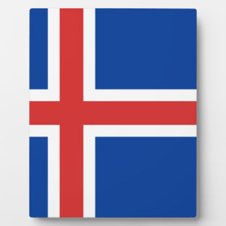 Low Cost! Iceland Flag Plaque