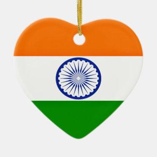 Low Cost! India Flag Ceramic Ornament
