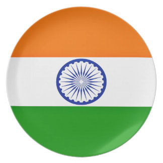 Low Cost! India Flag Plate