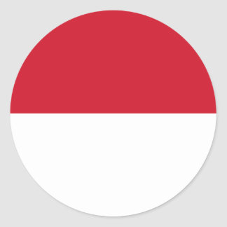 Low Cost! Indonesia Flag Classic Round Sticker
