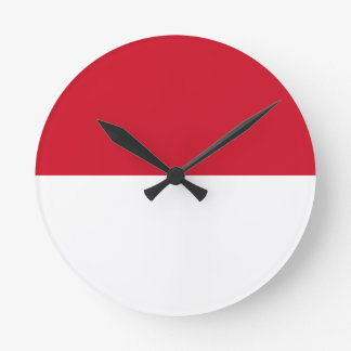 Low Cost! Indonesia Flag Round Clock