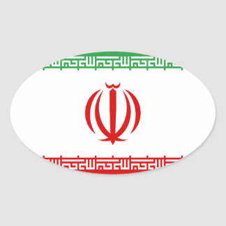 Low Cost! Iran Flag Oval Sticker