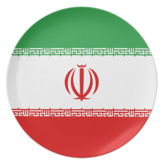 Low Cost! Iran Flag Plate