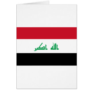 Low Cost! Iraq Flag Card