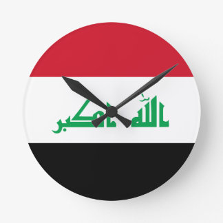 Low Cost! Iraq Flag Round Clock