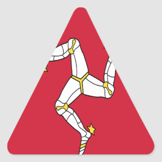 Low Cost! Isle of Man Triangle Sticker
