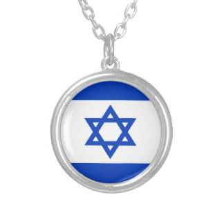 Low Cost! Israel Flag Silver Plated Necklace