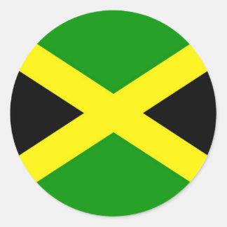 Low Cost! Jamaica Flag Classic Round Sticker