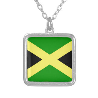 Low Cost! Jamaica Flag Silver Plated Necklace