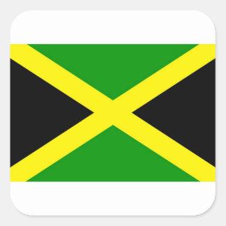 Low Cost! Jamaica Flag Square Sticker