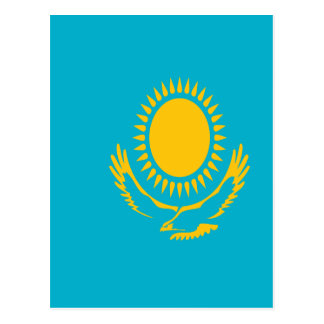 Low Cost! Kazakhstan Flag Postcard