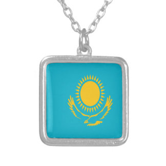 Low Cost! Kazakhstan Flag Silver Plated Necklace