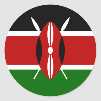 Low Cost! Kenya Flag Classic Round Sticker