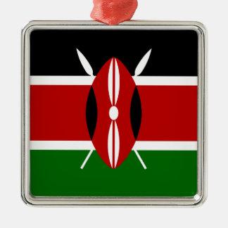 Low Cost! Kenya Flag Metal Ornament