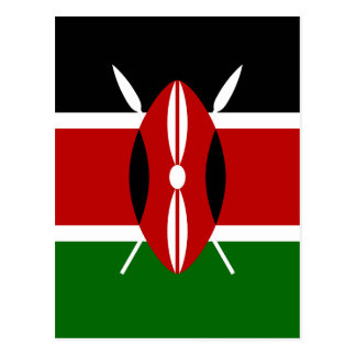 Low Cost! Kenya Flag Postcard