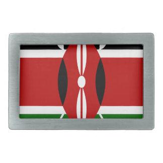 Low Cost! Kenya Flag Rectangular Belt Buckle