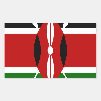 Low Cost! Kenya Flag Rectangular Sticker