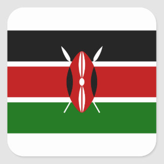 Low Cost! Kenya Flag Square Sticker